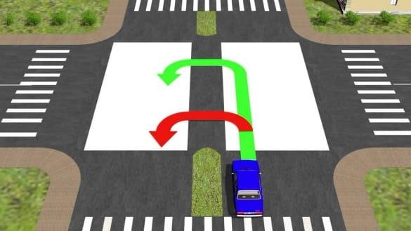 Изображение - Как правильно разворачиваться на дороге pazvorot_na_perekrestke