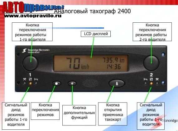 Аналоговый тахограф: инструкция по применению