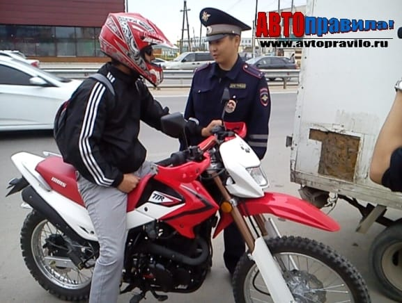 Наказание за езду без прав на мотоцикле