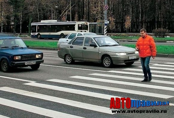 Обгон на пешеходном переходе