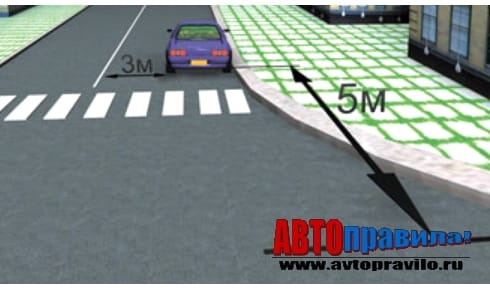 Правила парковку на пешеходном переходе