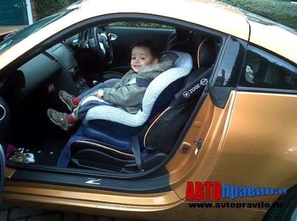 Перевозка детей в детском кресле