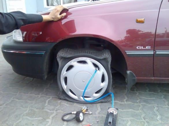 Накачка азотом шины