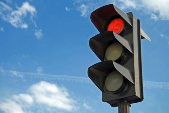 Штраф за красный сигнал светофора