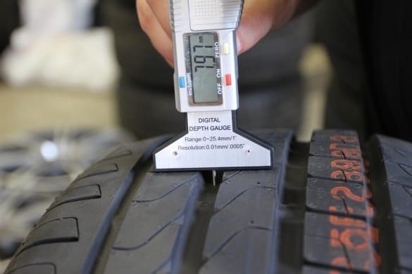 Высота протектора новой зимней и летней шины
