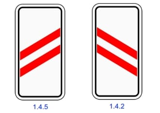 Знаки 1.4.2 и 1.4.5