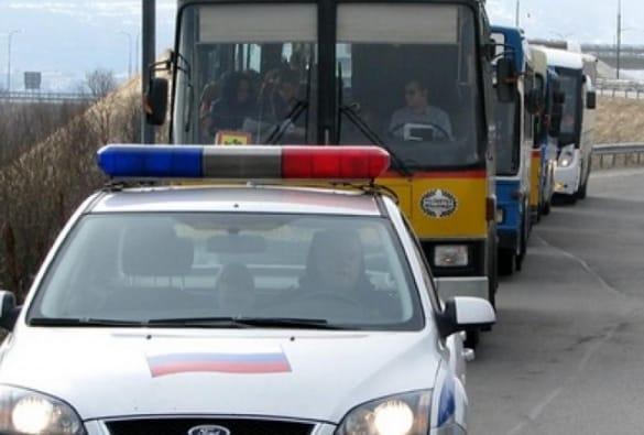 Сопровождение ГИБДД перевозки детей в автобусах
