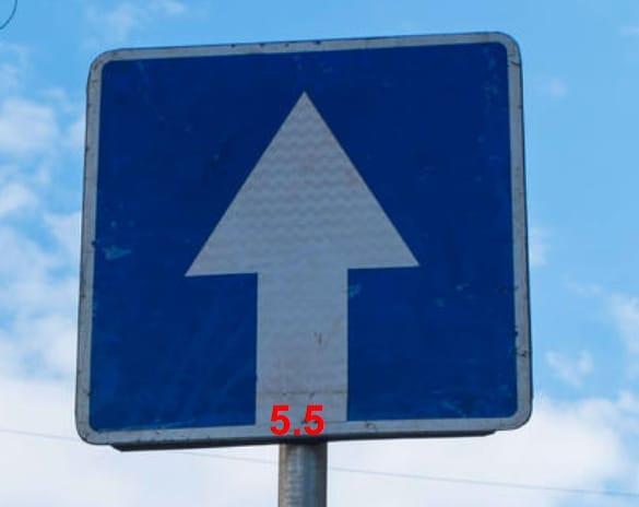 Знак 5.5